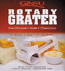 Ginsu Rotary Grater, $8.95, A grater that can be used for cheese, nuts, or even chocolate