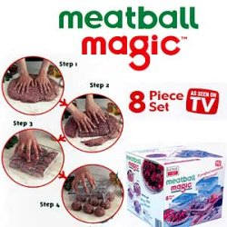 Meatball Magic, $14.50, Making homemade meatballs just got easier. In four simple steps, Meatball Magic shapes your ground meat into uniformly sized spheres that will cook evenly and in the same amount of time.