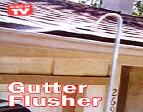 Gutter Flusher, Super charges the water from your garden hose! The Gutter Flusher rust-proof aluminum telescoping wand reaches up to 56 inch high, blasting leaves and dirt from gutters, walks, patios, decks, car wheels, and more
