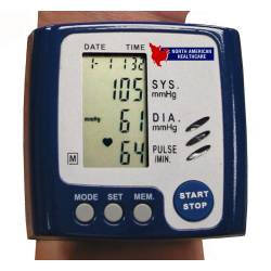 Talking Wrist Blood Pressure Monitor, $42.95, the monitor calls out your systolic and diastolic pressures, as well as your pulse in a clear voice.