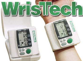 Wristech Blood Pressure Monitor, $29.95, WrisTech is Easy to Use! Typical Blood Pressure monitors are big, bulky, and nearly impossible to use without assistance. The WrisTech is compact and lightweight and easy to use even by yourself